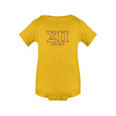 Gold Infant Onesie-Greek Letters Legacy