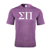 Performance Purple Heather Contender Tee-Greek Letters
