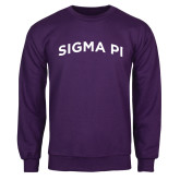 Purple Fleece Crew-Arched Sigma Pi