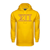Under Armour Gold Performance Sweats Team Hoodie-Greek Letters Two Tone