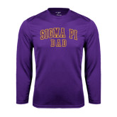 Performance Purple Longsleeve Shirt-Dad