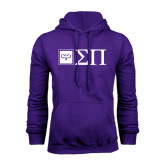 Purple Fleece Hoodie-Horizontal Logomark w/Letters