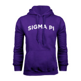Purple Fleece Hoodie-Arched Sigma Pi