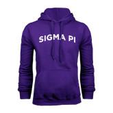 Purple Fleece Hoodie-Arched Sigma Pi