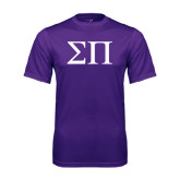 Performance Purple Tee-Greek Letters