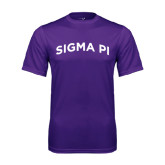 Performance Purple Tee-Arched Sigma Pi