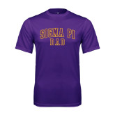 Syntrel Performance Purple Tee-Dad