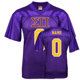 Replica Purple Adult Football Jersey-Greek Letters Personalized