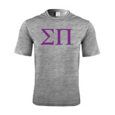 Performance Grey Heather Contender Tee-Greek Letters