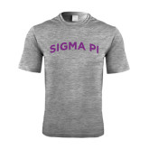 Performance Grey Heather Contender Tee-Arched Sigma Pi