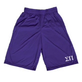 Performance Classic Purple 9 Inch Short-Greek Letters