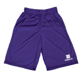 Performance Classic Purple 9 Inch Short-Vertical Logomark w/Text