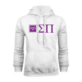 White Fleece Hoodie-Horizontal Logomark w/Letters
