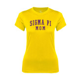 Ladies Syntrel Performance Gold Tee-Mom