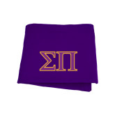 Purple Sweatshirt Blanket-Greek Letters Two Tone