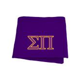 Purple Sweatshirt Blanket-Greek Letters Two Tone