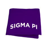 Purple Sweatshirt Blanket-Arched Sigma Pi