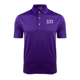 Purple Dry Mesh Polo-Greek Letters