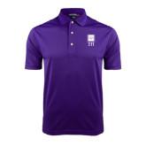 Purple Dry Mesh Polo-Vertical Logomark w/Letters