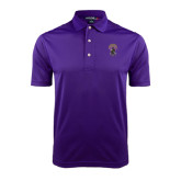 Purple Dry Mesh Polo-Crest