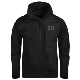 Black Charger Jacket-Greek Letters Two Tone