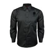 Red House Black Long Sleeve Shirt-Vertical Logomark w/Letters