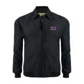 Black Players Jacket-Greek Letters Two Tone