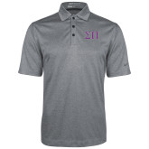 Nike Golf Dri Fit Charcoal Heather Polo-Greek Letters Two Tone