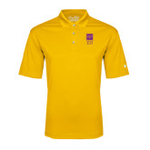 Under Armour Gold Performance Polo-Vertical Logomark w/Letters