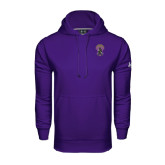 Under Armour Purple Performance Sweats Team Hoodie-Crest