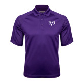 Purple Textured Saddle Shoulder Polo-Icon