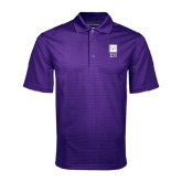 Purple Mini Stripe Polo-Vertical Logomark w/Letters