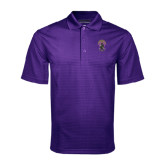 Purple Mini Stripe Polo-Crest