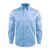 Red House Light Blue Dobby Long Sleeve Shirt-Greek Letters