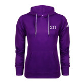 Adidas Climawarm Purple Team Issue Hoodie-Greek Letters