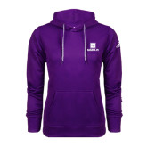Adidas Climawarm Purple Team Issue Hoodie-Vertical Logomark w/Text