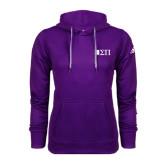Adidas Climawarm Purple Team Issue Hoodie-Horizontal Logomark w/Letters