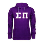 Adidas Climawarm Purple Team Issue Hoodie-Tackle Twill Greek Letters