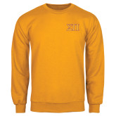 Gold Fleece Crew-Greek Letters Two Tone