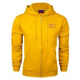 Champion Gold Fleece Full Zip Hood-Greek Letters Two Tone
