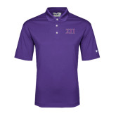 Under Armour Purple Performance Polo-Greek Letters Two Tone