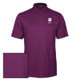 Purple Performance Fine Jacquard Polo-Vertical Logomark w/Letters