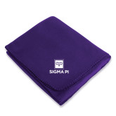 Purple Arctic Fleece Blanket-Vertical Logomark w/Text