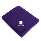 Purple Arctic Fleece Blanket-Vertical Logomark w/Text
