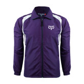Colorblock Purple/White Wind Jacket-Icon