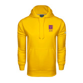 Under Armour Gold Performance Sweats Team Hoodie-Vertical Logomark w/Letters