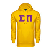 Under Armour Gold Performance Sweats Team Hoodie-Tackle Twill Greek Letters