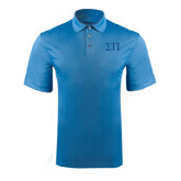 Light Blue Performance Fine Jacquard Polo-Greek Letters