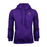 Purple Fleece Hoodie-Crest