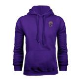 Purple Fleece Hoodie-Crest